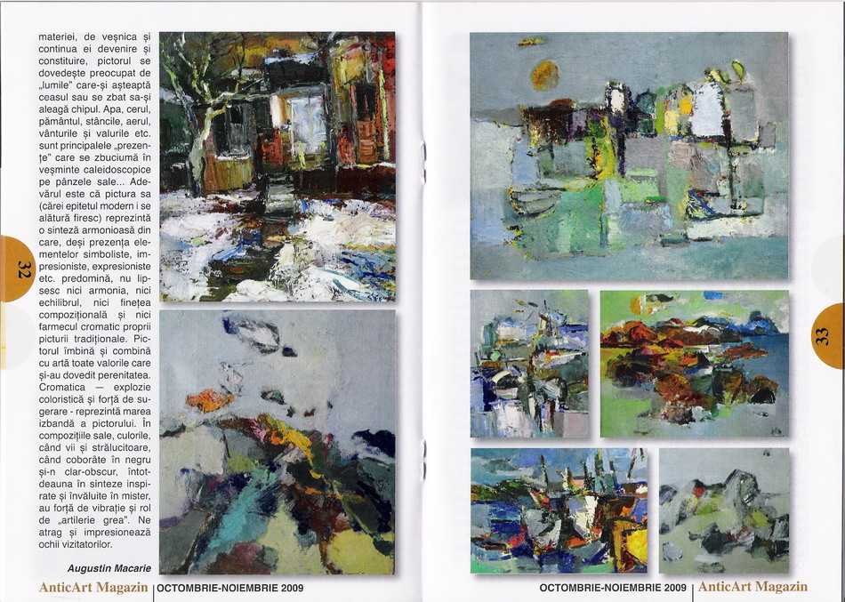 SIMION CIUMEICA in revista AnticArt magazin nr.36 oct-nov 2009 pag.32,33